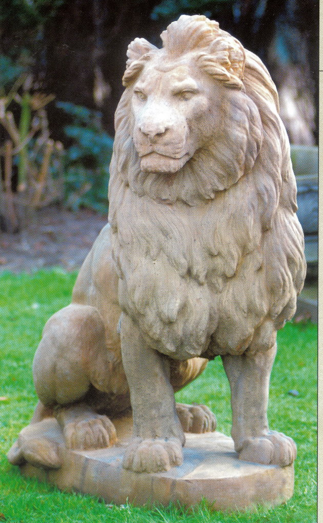 Pair of Stone Lions , 100026 , Walker Stone Decor